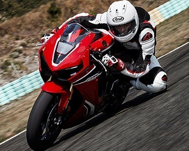 Sportbike background image for the New Inventory call-to-action button